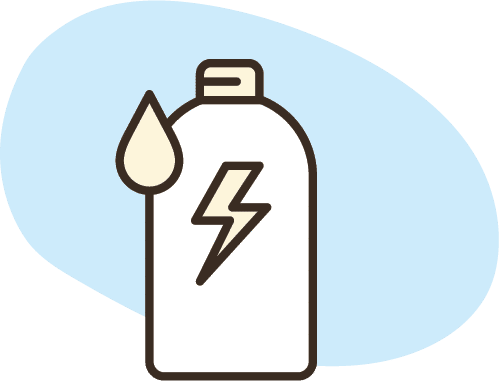 icon of electrolytes bottle