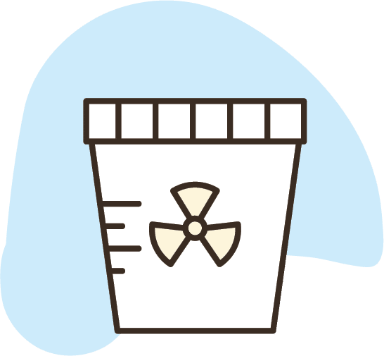 infectious stool sample cup icon